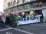 Klimaatbetogers trekken door Brussel (Copyright Liesbeth Merckx)