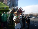 Mexicaan op de betoging (Copyright Liesbeth Merckx)
